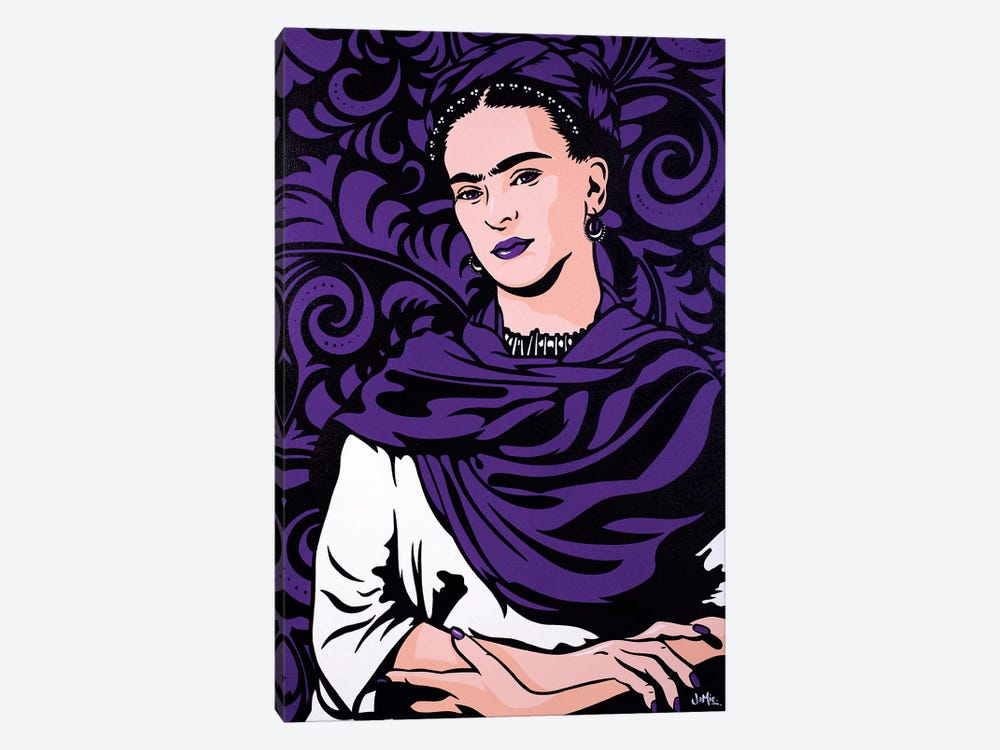 Frida Kahlo Lost In The Flowers by James Lee 1-piece Canvas Artwork