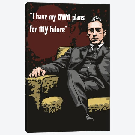 Michael Corleone Plans Canvas Print #JLE123} by James Lee Canvas Print