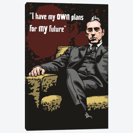 Michael Corleone Plans Canvas Print #JLE123} by James Lee Canvas Print