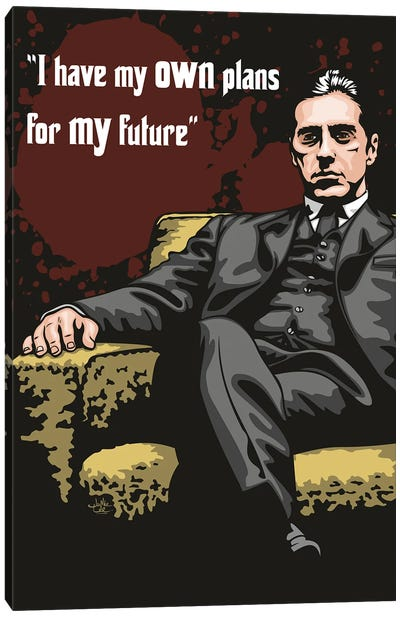 Michael Corleone Plans Canvas Art Print