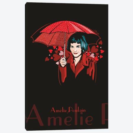Amelie Poulain With Umbrella Canvas Print #JLE125} by James Lee Canvas Art
