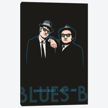 Elwood Blues And Joliet Jake Canvas Print #JLE126} by James Lee Canvas Artwork