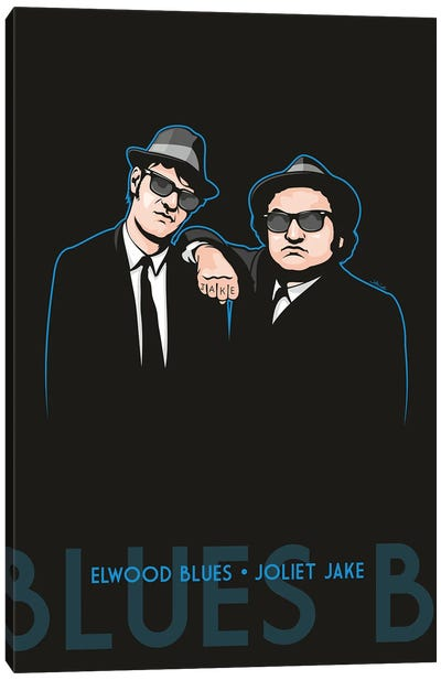 Elwood Blues And Joliet Jake Canvas Art Print