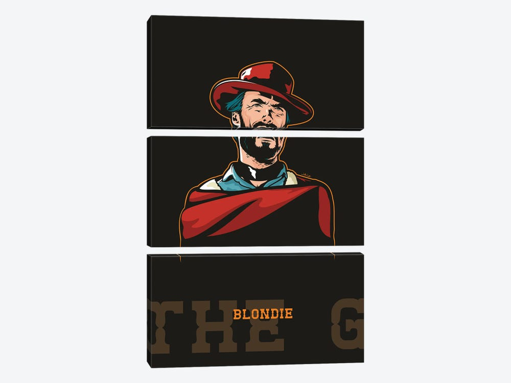 Clint Eastwood As Blondie by James Lee 3-piece Canvas Art