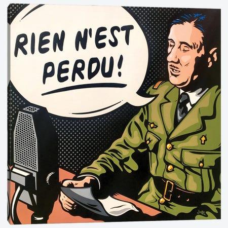 Charles De Gaulle Canvas Print #JLE128} by James Lee Art Print