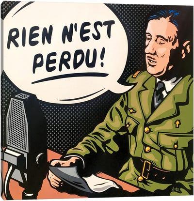 Charles De Gaulle Canvas Art Print
