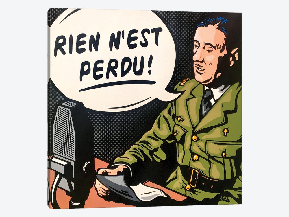 Charles De Gaulle by James Lee 1-piece Canvas Art Print
