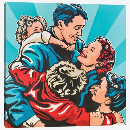 It'S A Wonderful Life Acrylic On Canvas Canvas Print #JLE129} by James Lee Art Print