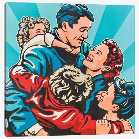 It'S A Wonderful Life Acrylic On Canvas Canvas Print #JLE129} by James Lee Art Print