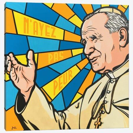 Pope John Paul II Canvas Print #JLE130} by James Lee Canvas Wall Art