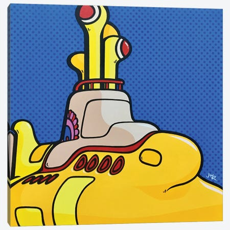 Yellow Submarine Canvas Print #JLE132} by James Lee Canvas Artwork