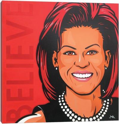 Michelle Obama - Believe Canvas Art Print
