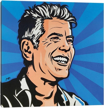 Anthony Bourdain Canvas Art Print