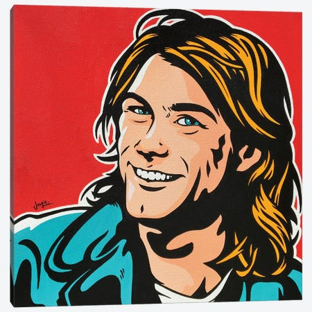 Kurt Cobain Canvas Print #JLE136} by James Lee Art Print
