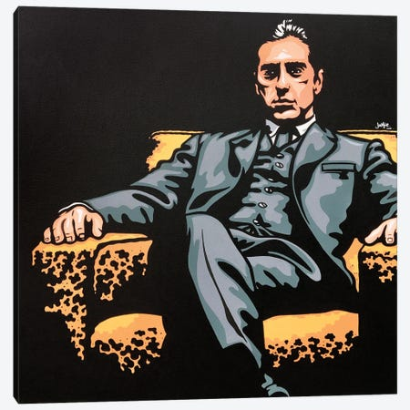 Michael Corleone Canvas Print #JLE137} by James Lee Canvas Art Print