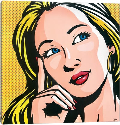 Thinking Woman Canvas Art Print