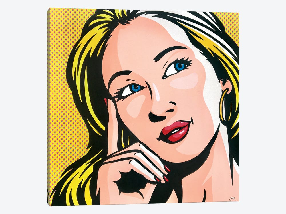 Thinking Woman by James Lee 1-piece Canvas Print