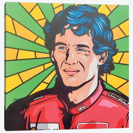 Ayrton Senna Pop Art Canvas Print #JLE141} by James Lee Art Print