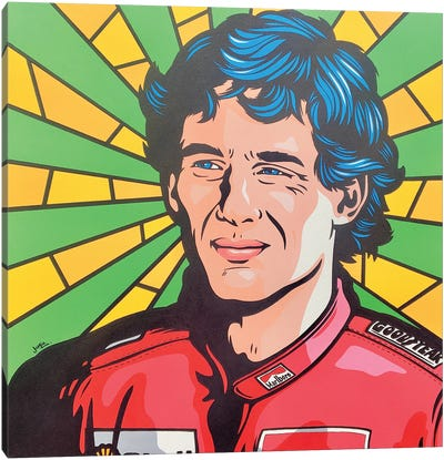 Ayrton Senna Pop Art Canvas Art Print