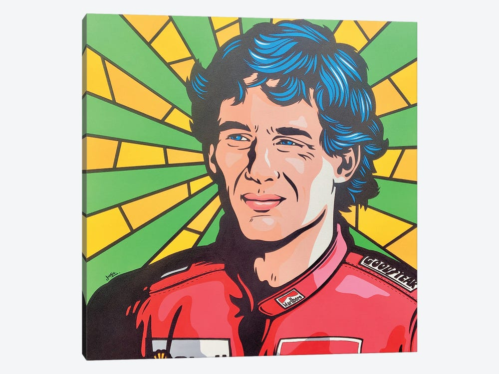Ayrton Senna Pop Art by James Lee 1-piece Canvas Wall Art