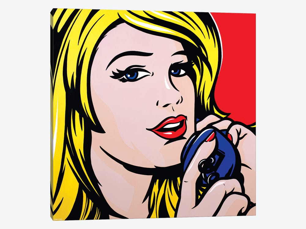 Girl On Phone by James Lee 1-piece Art Print