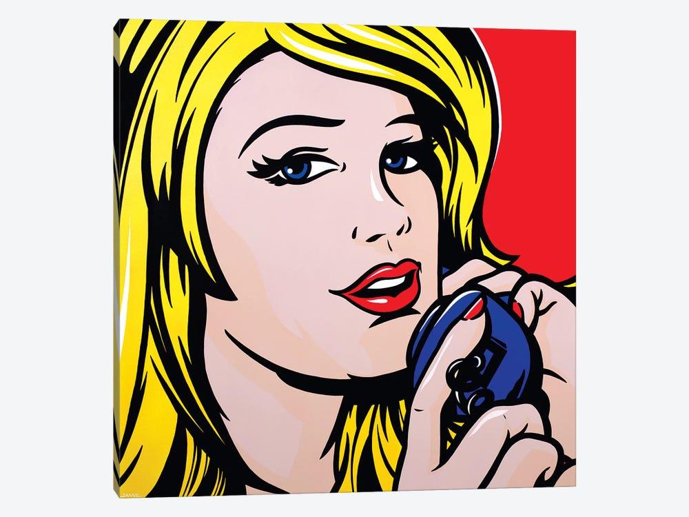 Girl On Phone by James Lee 1-piece Art Print