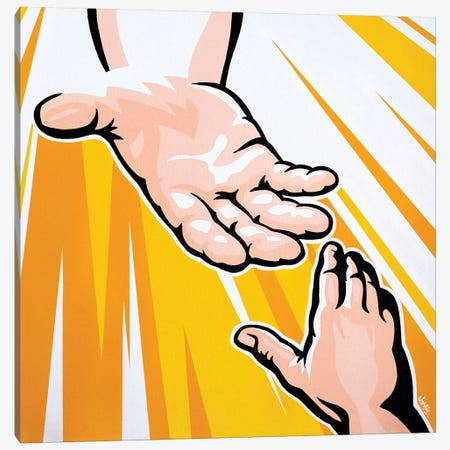 Hand Of God Canvas Print #JLE15} by James Lee Canvas Art Print