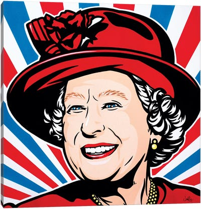 HRH Queen Elizabeth II Canvas Art Print