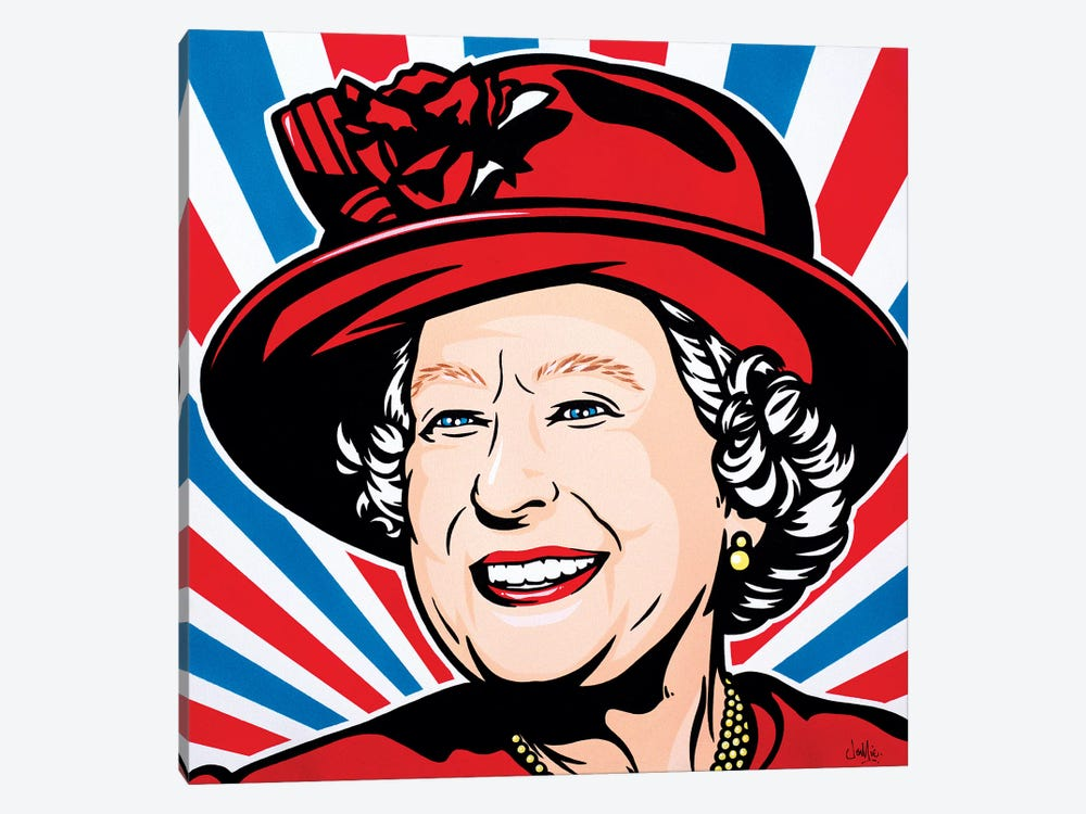 HRH Queen Elizabeth II by James Lee 1-piece Canvas Print