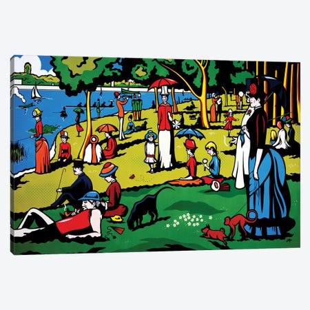 A Sunday Afternoon On The Island Of La Grande Jatte 3-Piece Canvas #JLE1} by James Lee Canvas Wall Art