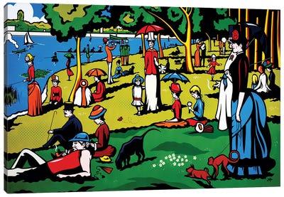 A Sunday Afternoon On The Island Of La Grande Jatte Canvas Art Print