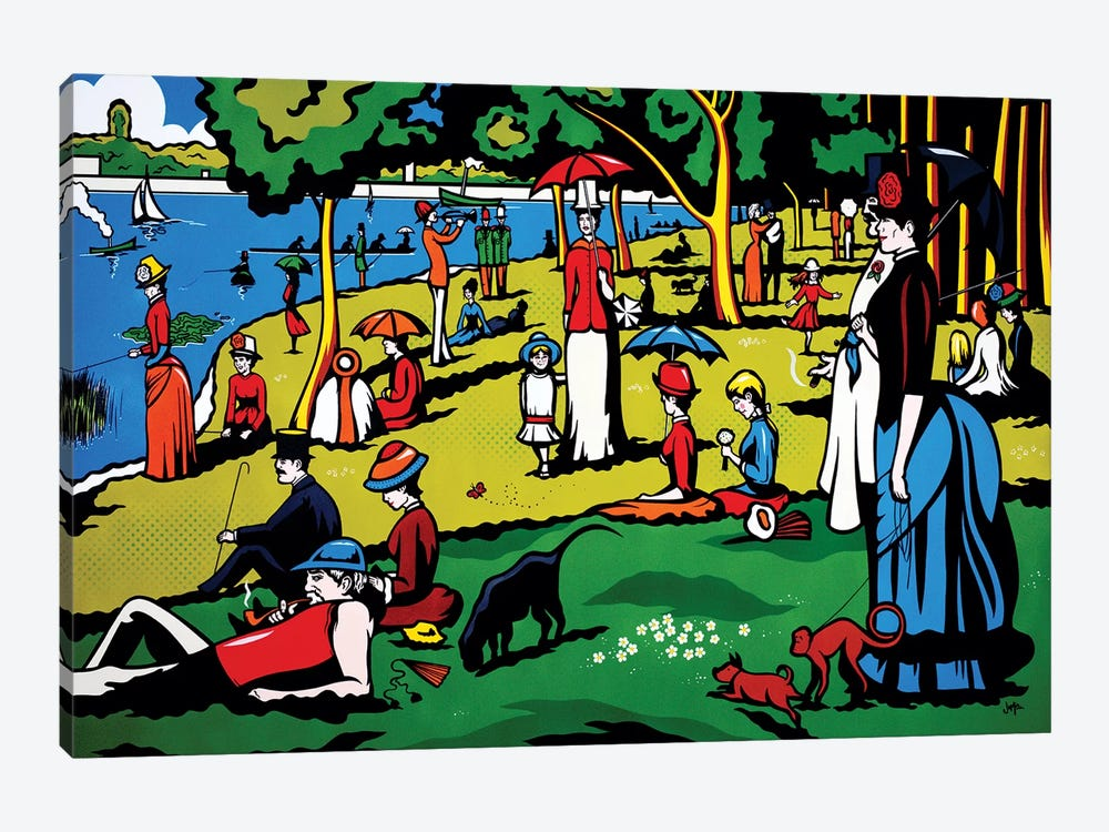 A Sunday Afternoon On The Island Of La Grande Jatte by James Lee 1-piece Canvas Wall Art