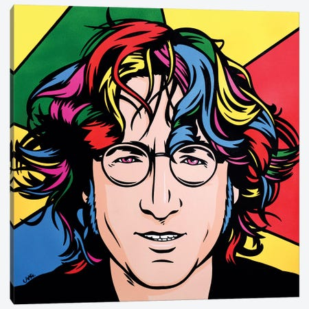 John Lennon Canvas Print #JLE20} by James Lee Art Print