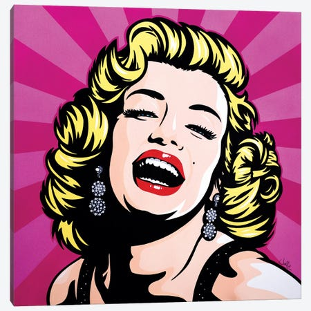 Marilyn Monroe Canvas Print #JLE22} by James Lee Art Print