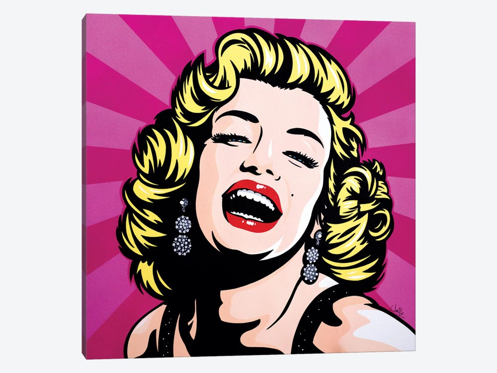 Marilyn Monroe by James Lee 1-piece Canvas Artwork