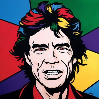 Mick Jagger Canvas Art Print By James Lee Icanvas