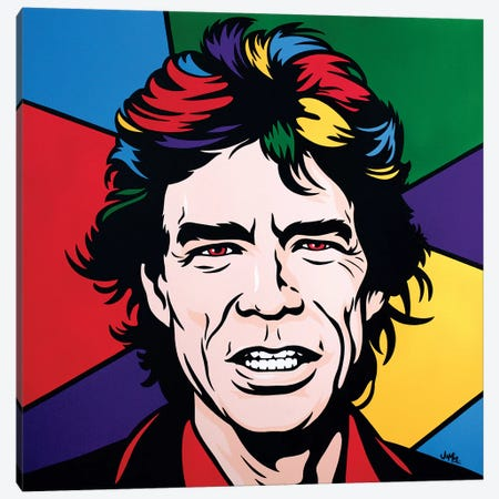 Mick Jagger Canvas Print #JLE23} by James Lee Art Print