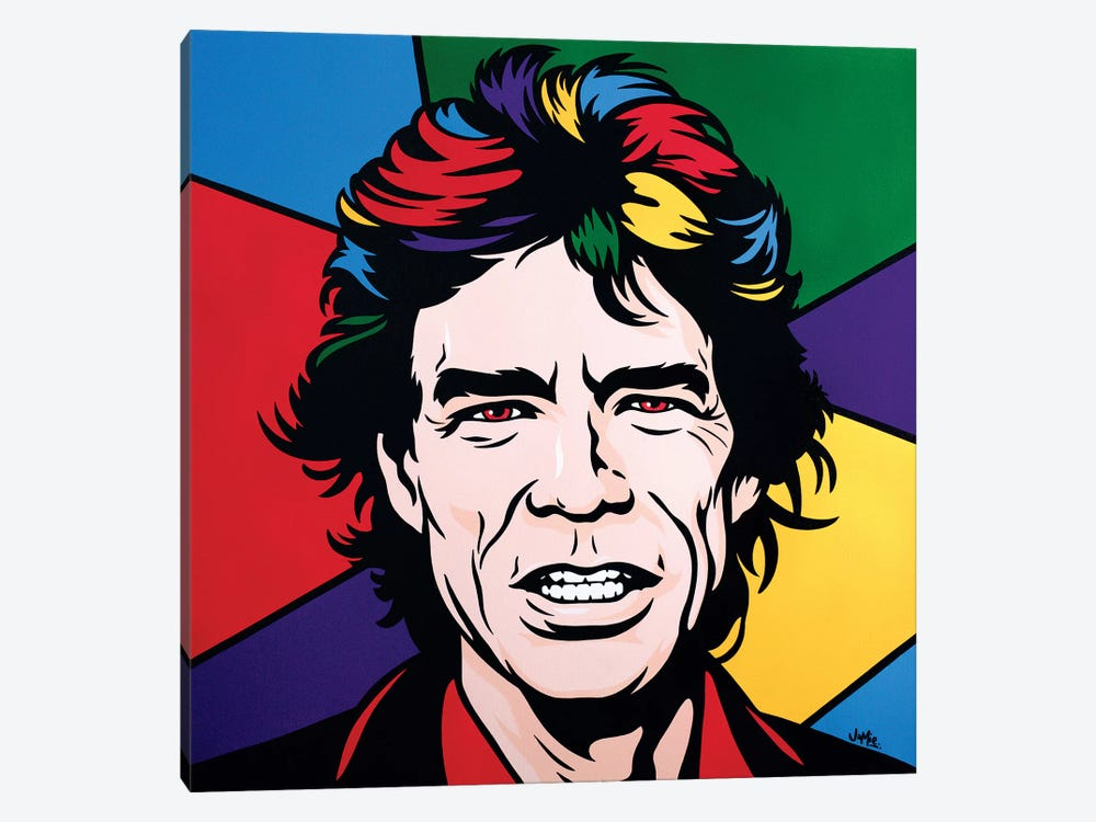 Mick Jagger by James Lee 1-piece Canvas Print