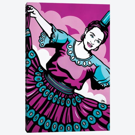 Paraguayan Bottle Dancer Canvas Print #JLE27} by James Lee Canvas Artwork
