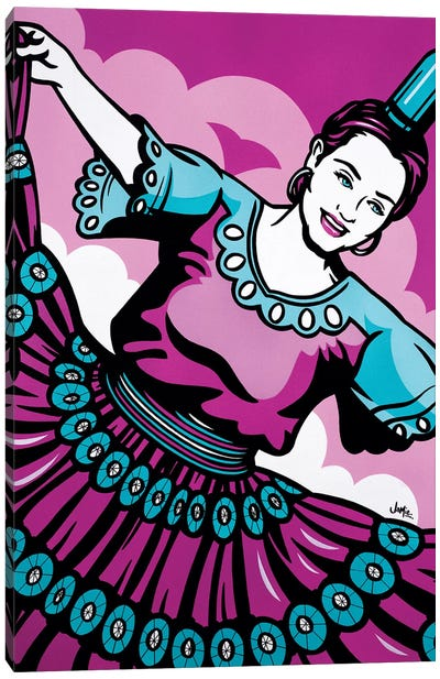 Paraguayan Bottle Dancer Canvas Art Print