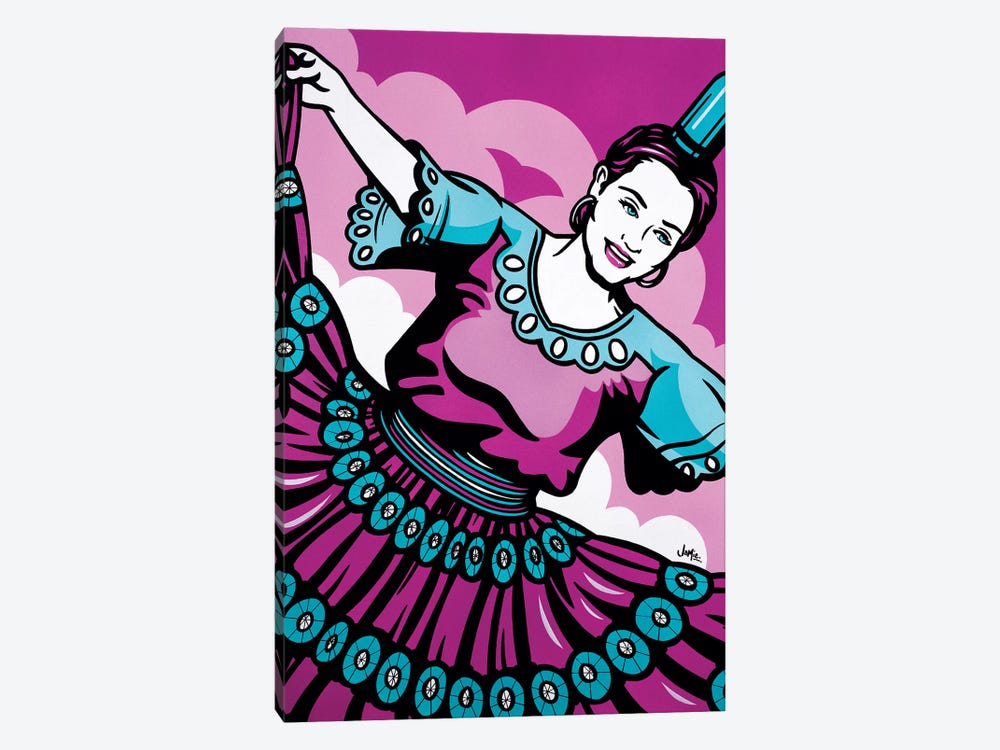Paraguayan Bottle Dancer by James Lee 1-piece Canvas Art Print
