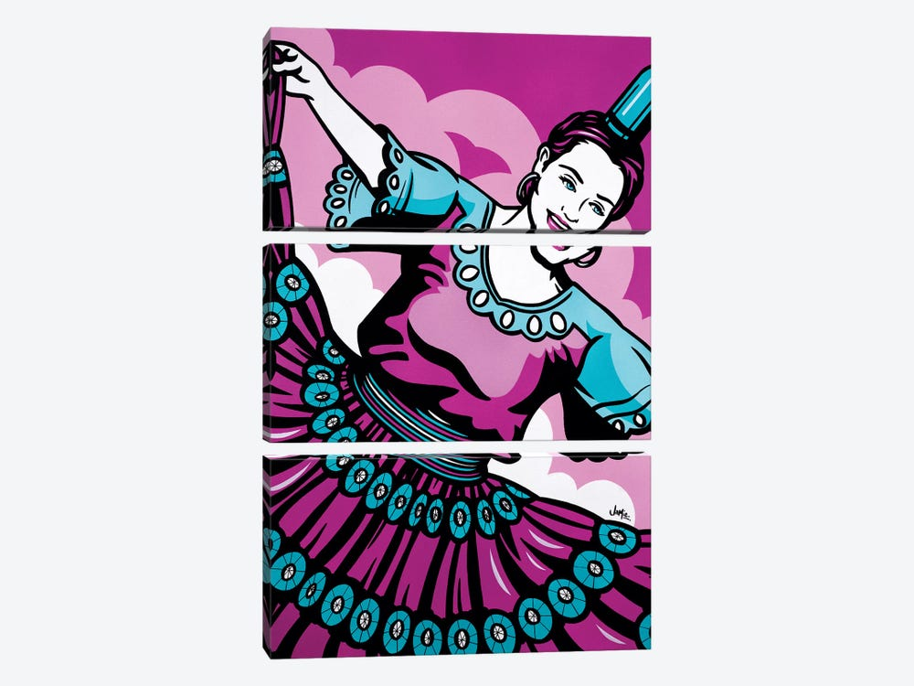Paraguayan Bottle Dancer by James Lee 3-piece Canvas Print