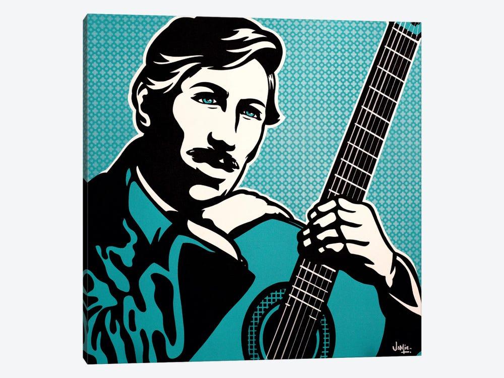 Agustín Barrios Mangoré by James Lee 1-piece Canvas Print