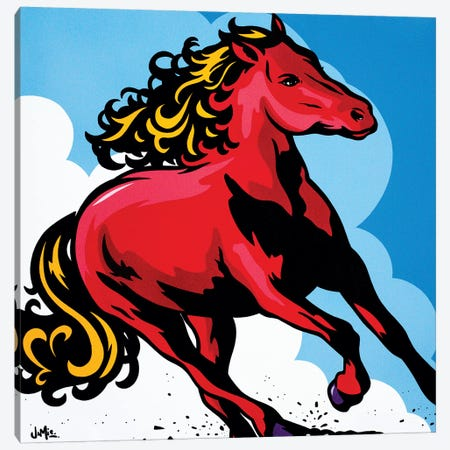 Stallion Canvas Print #JLE32} by James Lee Canvas Wall Art