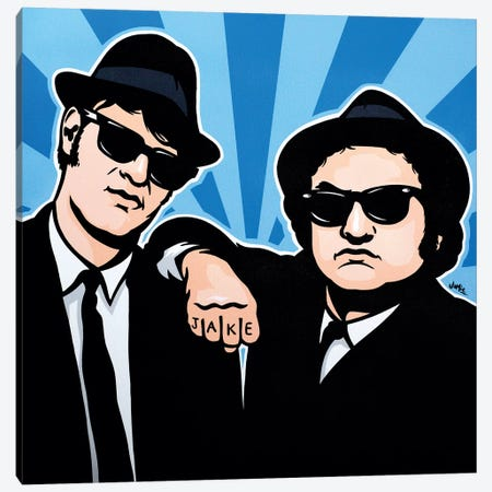 The Blues Brothers Canvas Print #JLE34} by James Lee Canvas Art Print