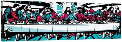 The Last Supper Blue Canvas Art Print
