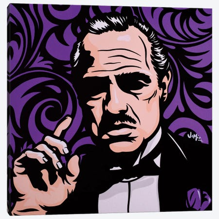 Vito Corleone On Purple Canvas Print #JLE39} by James Lee Canvas Art