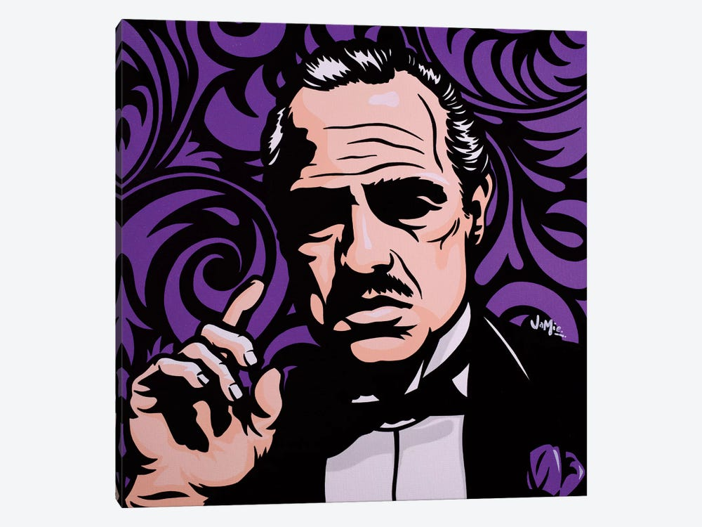 Vito Corleone On Purple by James Lee 1-piece Canvas Art