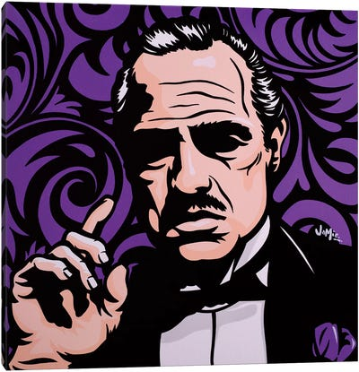 Vito Corleone On Purple Canvas Art Print