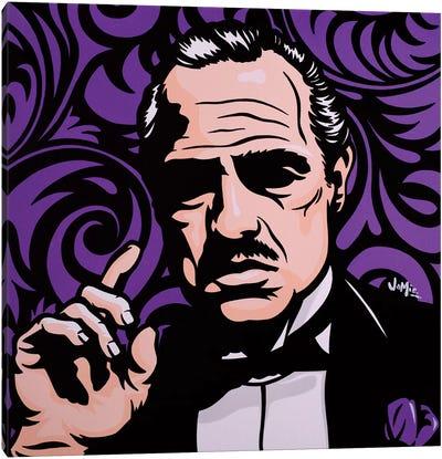 Vito Corleone On Purple Canvas Art Print